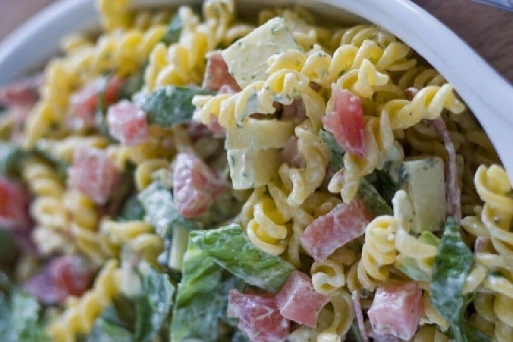 Italian Salami & Basil Pasta Salad