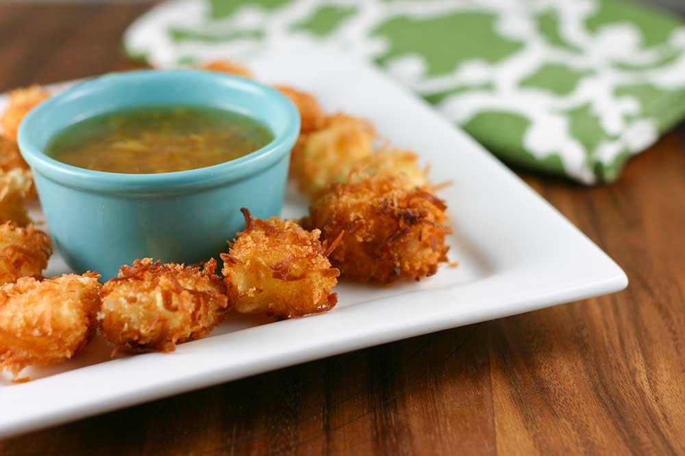 Coconut Fish Bites & Orange Marmalade Dipping Sauce