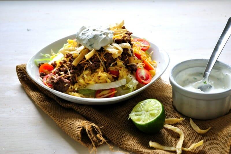 Orzo Tex-Mex Taco Salad