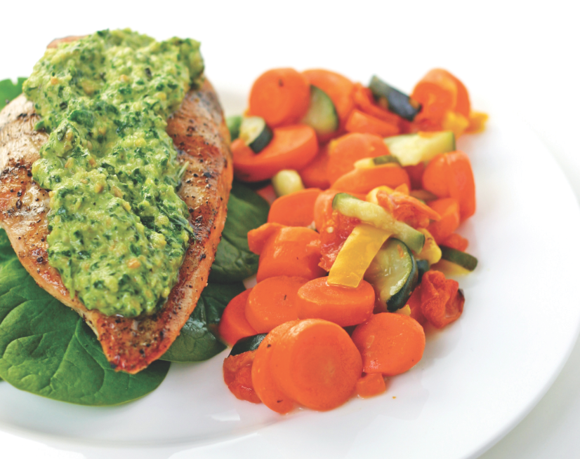 Citrus Pesto Grilled Chicken