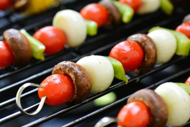 Grilled Balsamic Veggie Kebabs