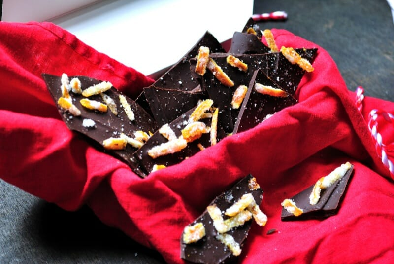 Dark Chocolate Orange & Sea Salt Bark