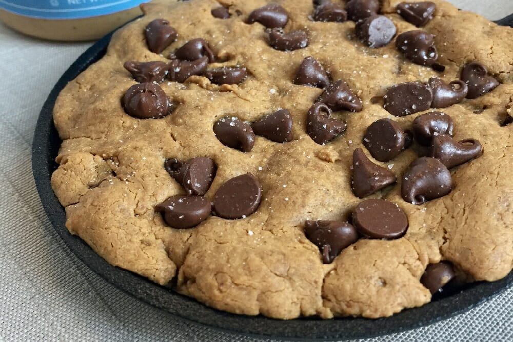 Cashew Chocolate Chip Cookie Skillet Recipe