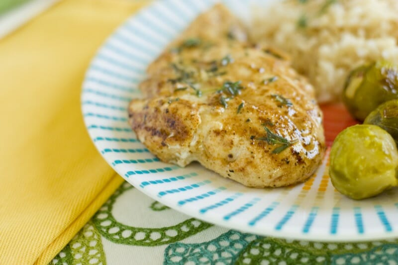 Grilled Lemon Thyme Chicken