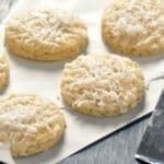 Lemon Coconut Drizzled Cookies