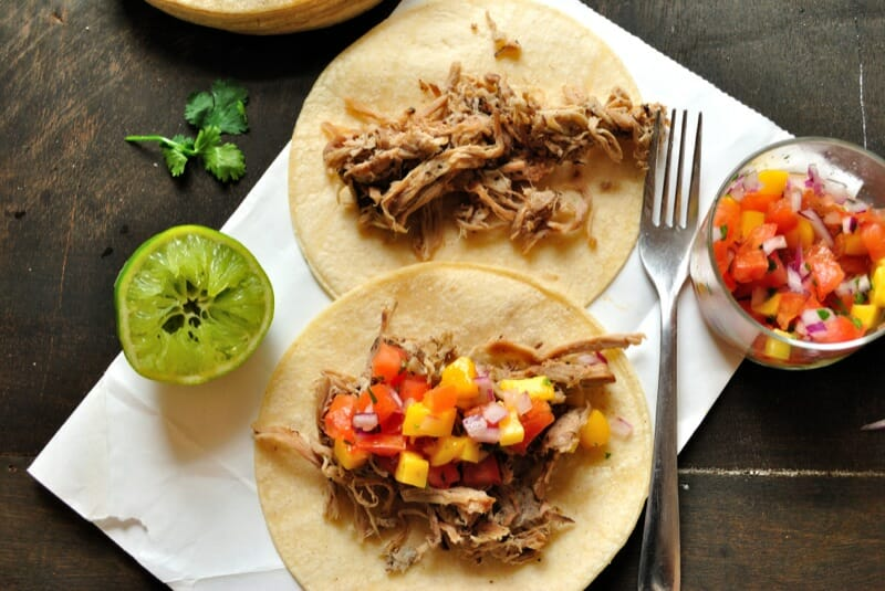 Spiced Bourbon Carnitas Tacos
