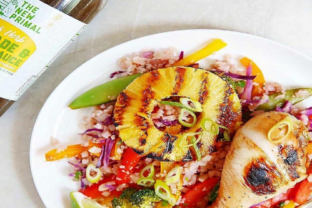 Grilled Drumsticks & Citrus-Herb Cauli Rice