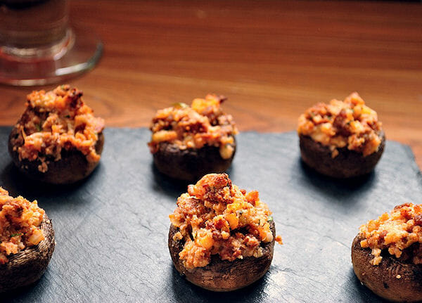 Mushroom Chorizo Poppers