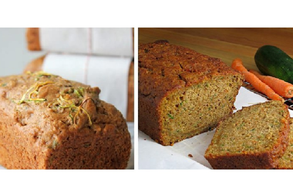 Gluten-Free Carrot Zucchini Bread with Himalayan Salt, Coconut Milk and Cinnamon