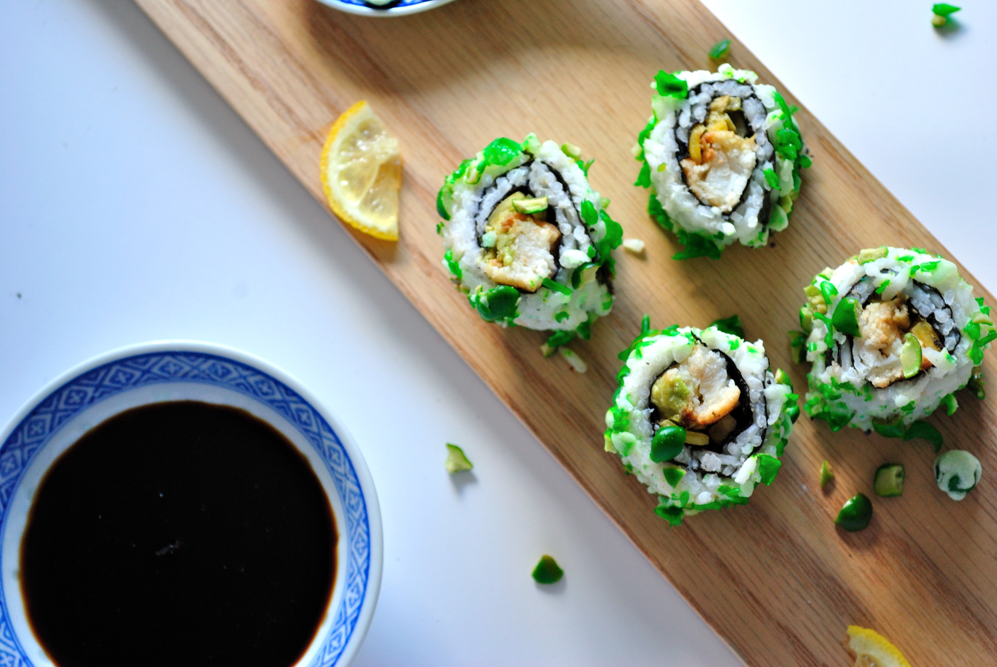 Mango Avocado Fish Stick Roll