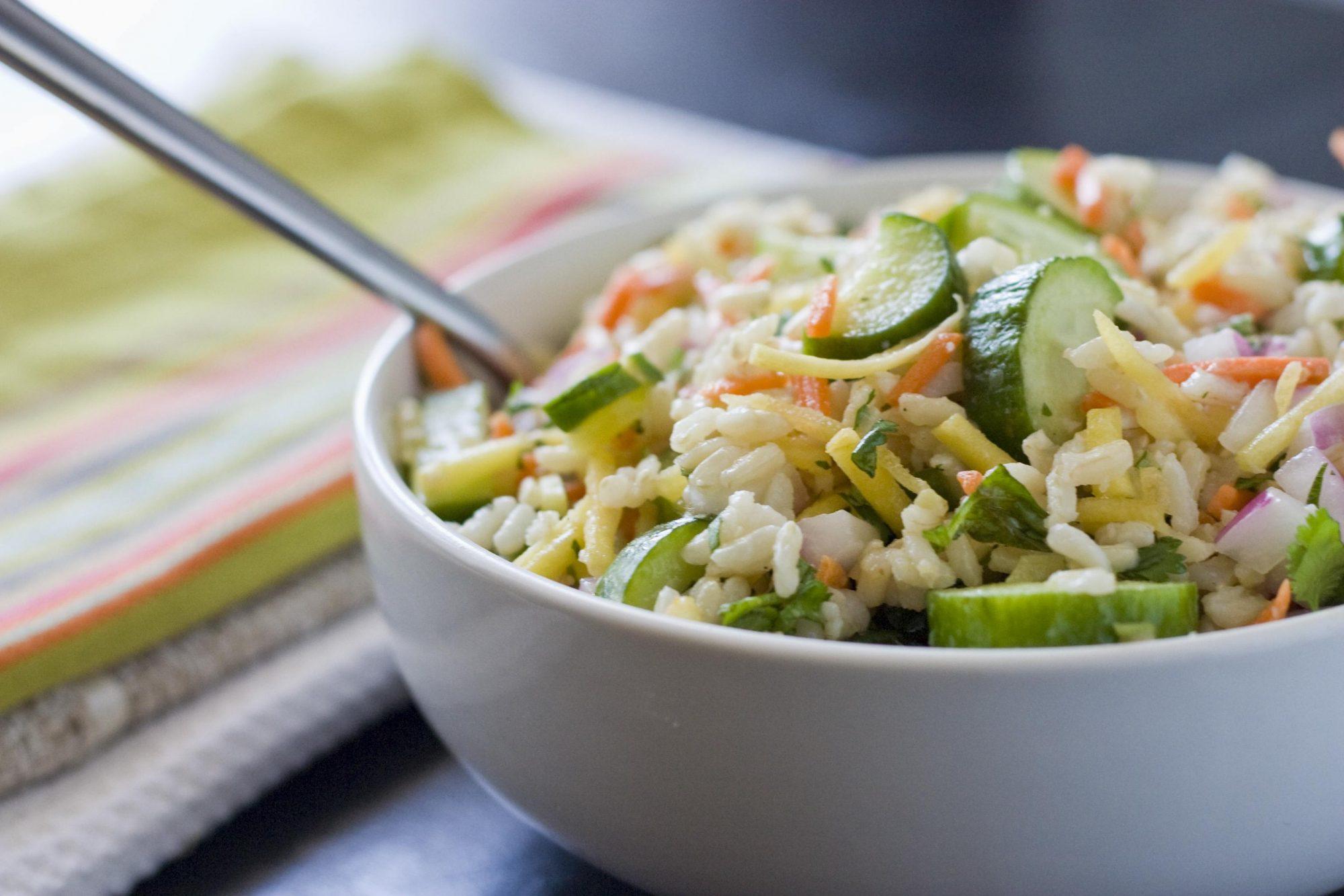 Sweet Lemon, Cucumber & Brown Rice Salad