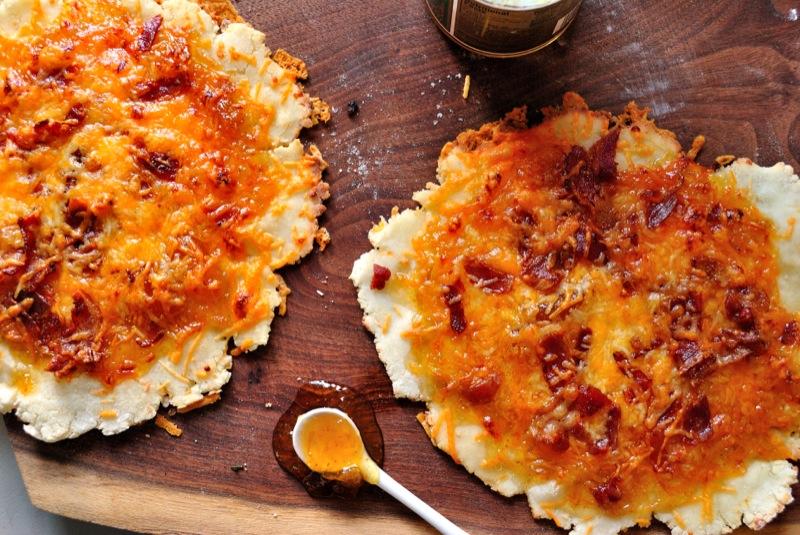 Bacon Cheddar Fig Pizza
