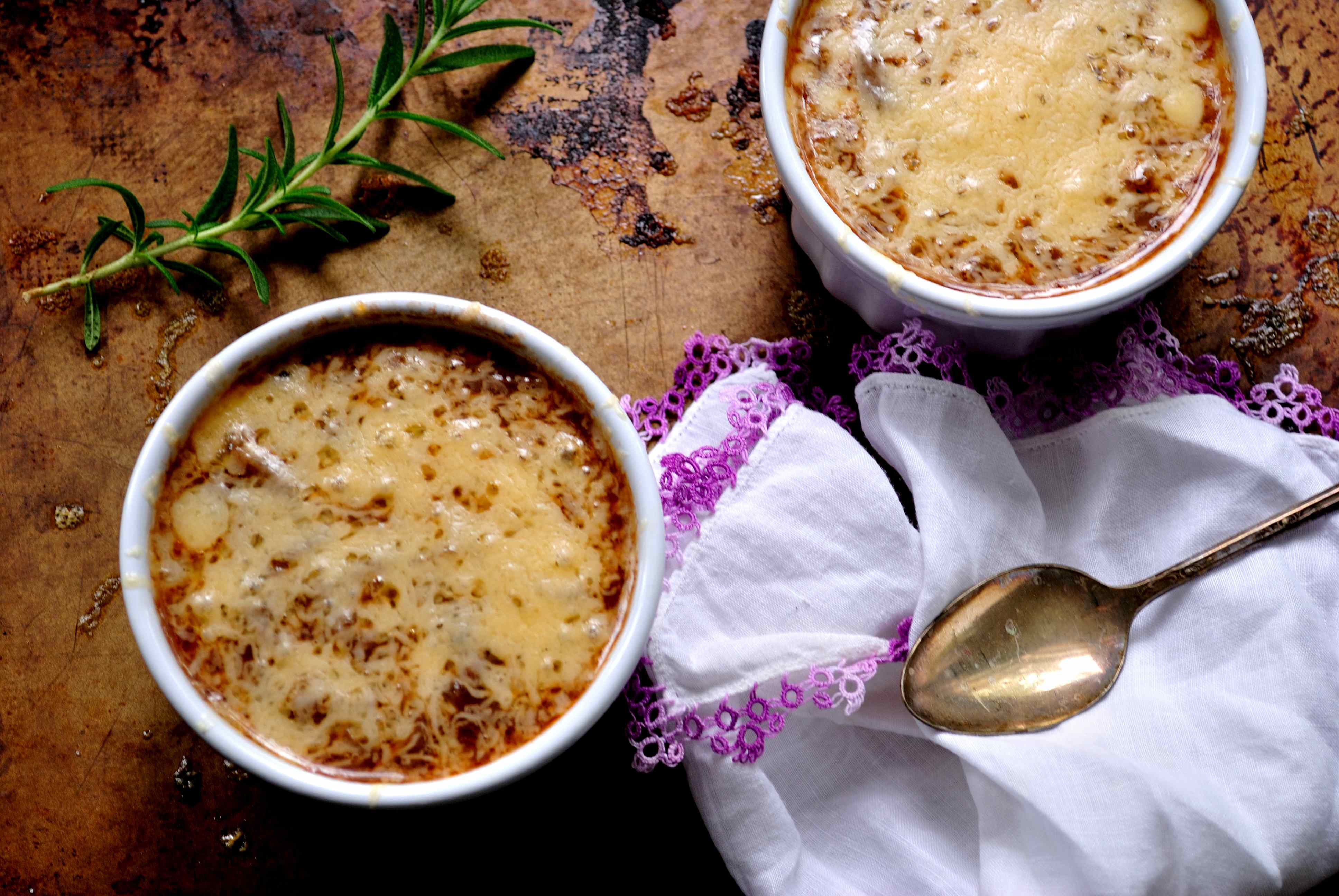 Trio of Onion Soup