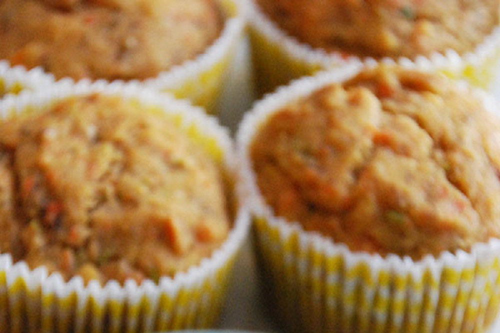Gluten Free Carrot Zucchini Muffins