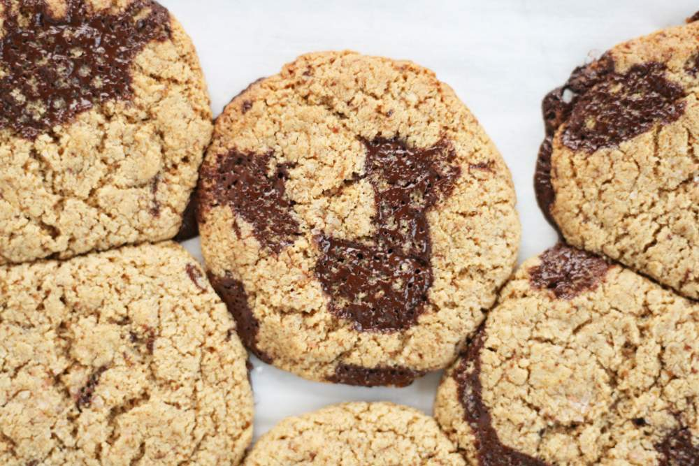 Salted Cashew Butter Chocolate Chunk Cookies