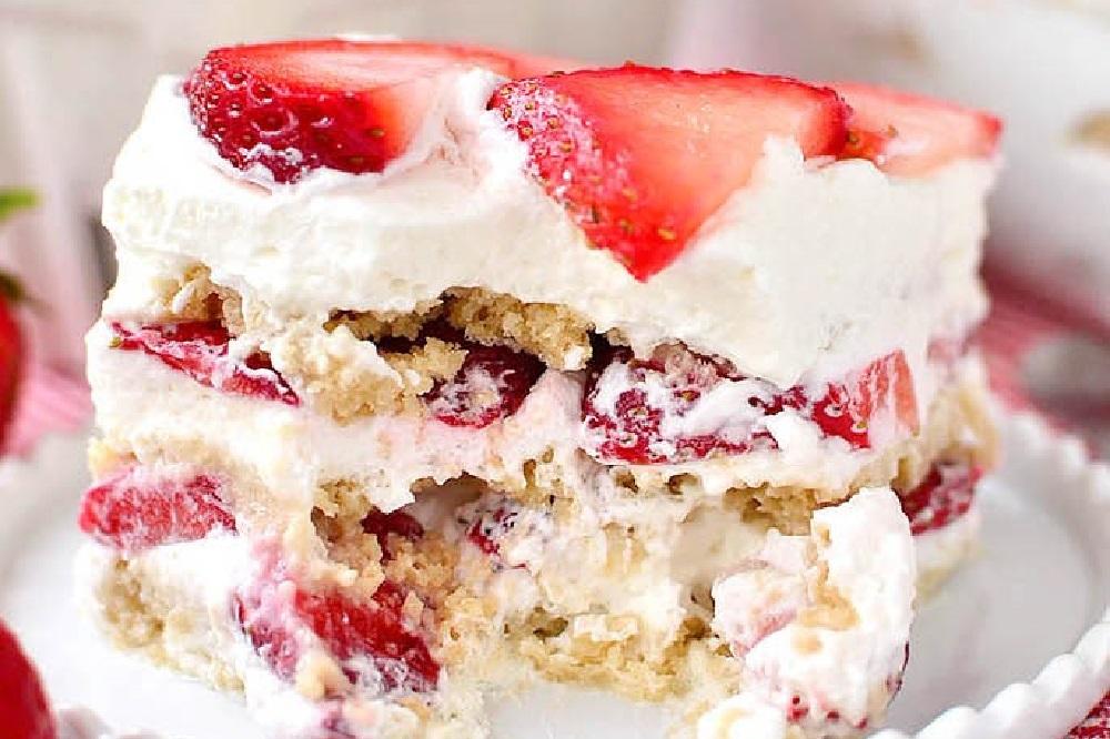 No-Bake Strawberry Shortcake Icebox Cake