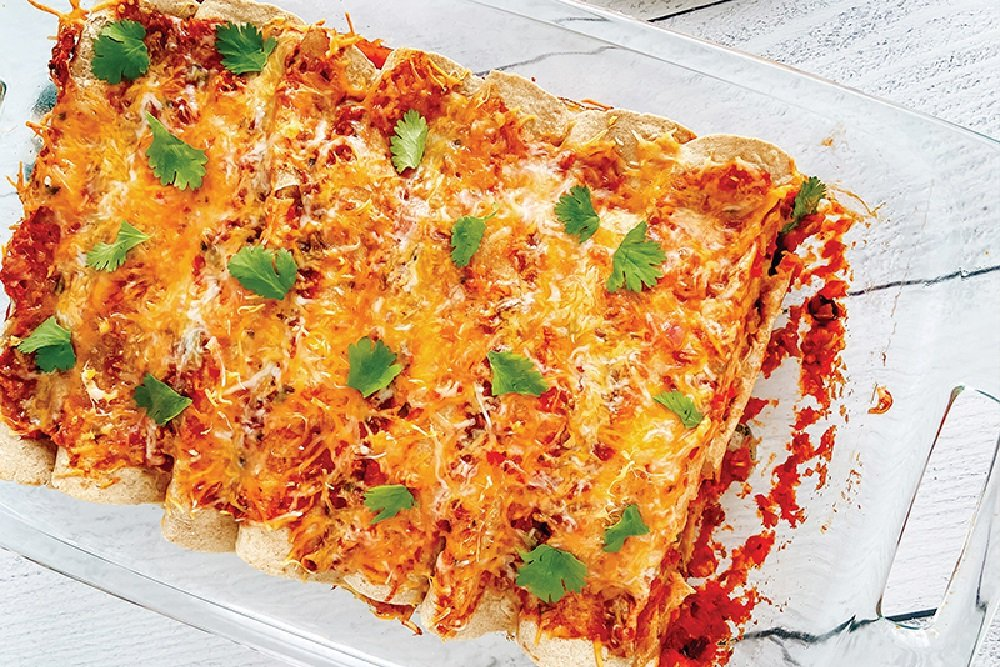 Easy Chicken Enchiladas with Black Beans