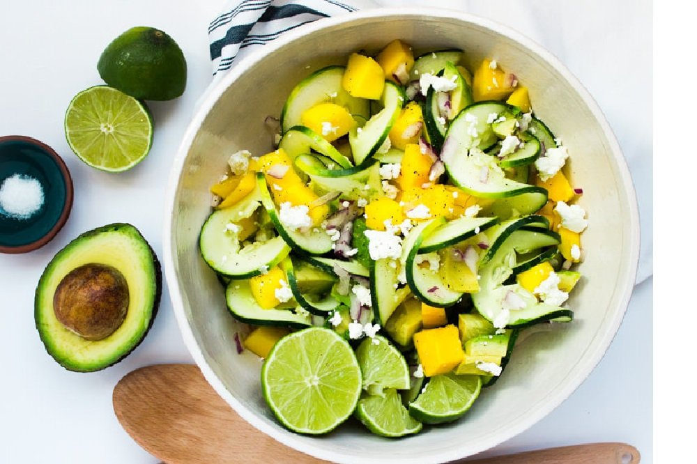 Spiralized Cucumber Summer Salad